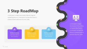 3 Step RoadMap Infographic Template