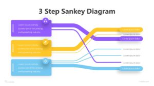 3 Step Sankey Diagram Infographic Template