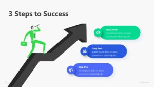 3 Steps To Success Infographic Template
