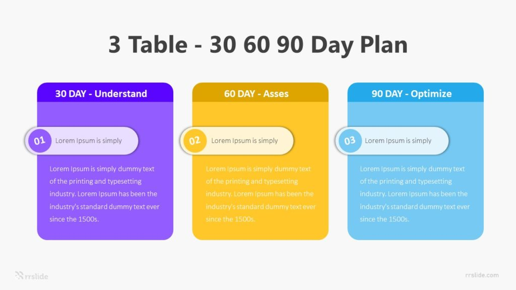 3 Table 30 60 90 Day Plan Infographic Template
