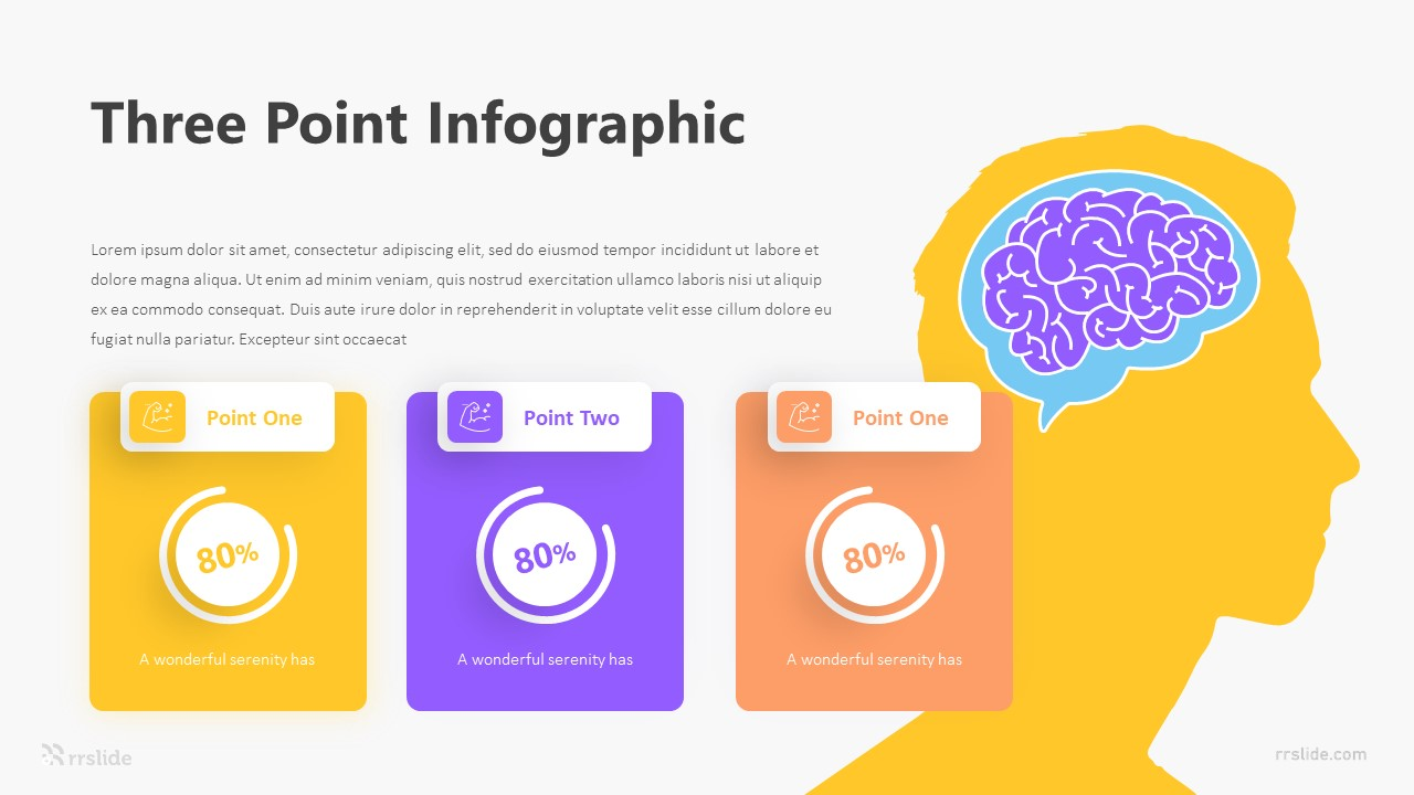 3 Three Point Infographic Template