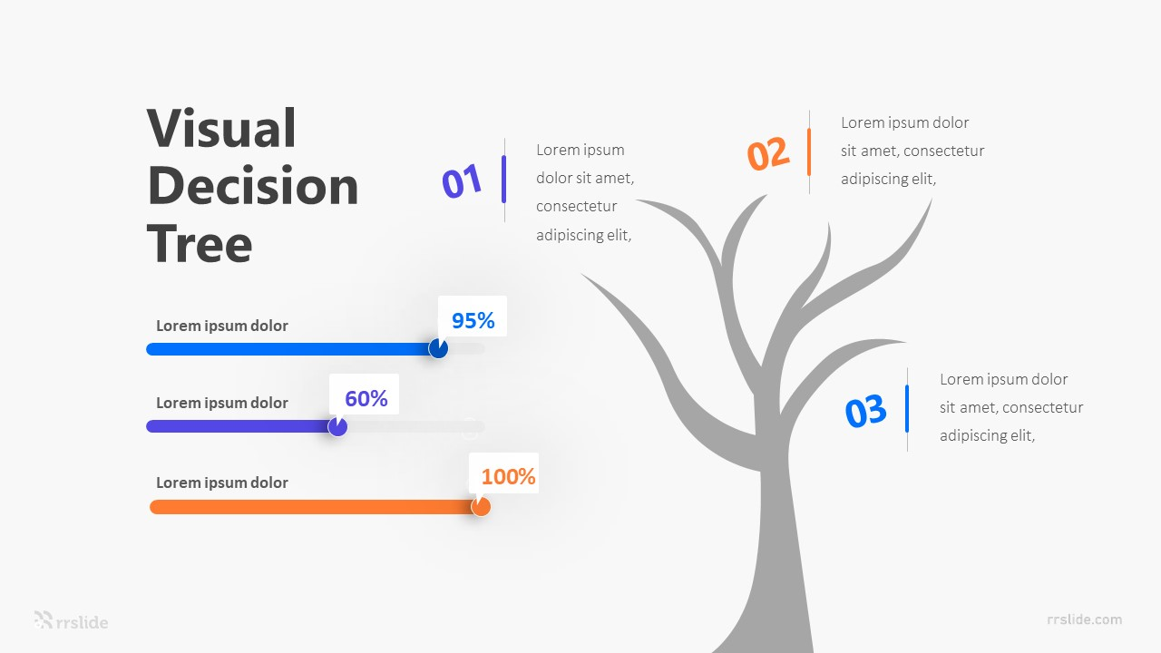 3 Visual Decision Tree Infographic Template