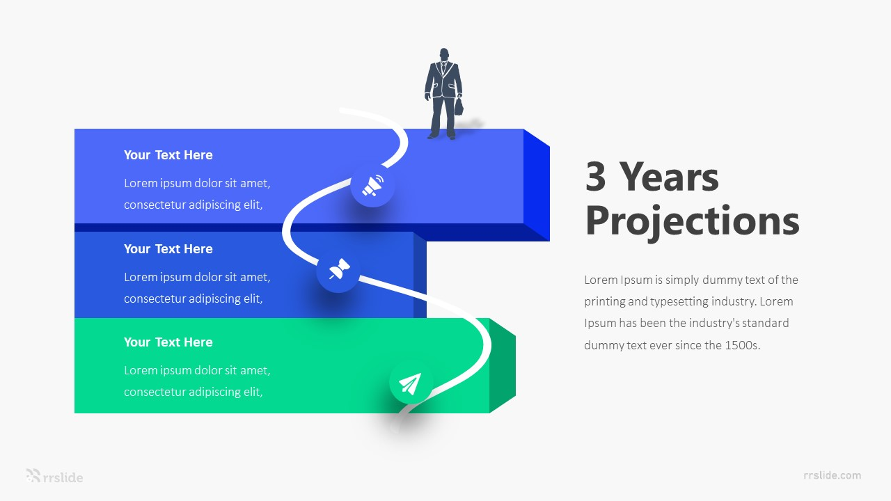 3 Years Projections Infographic Template