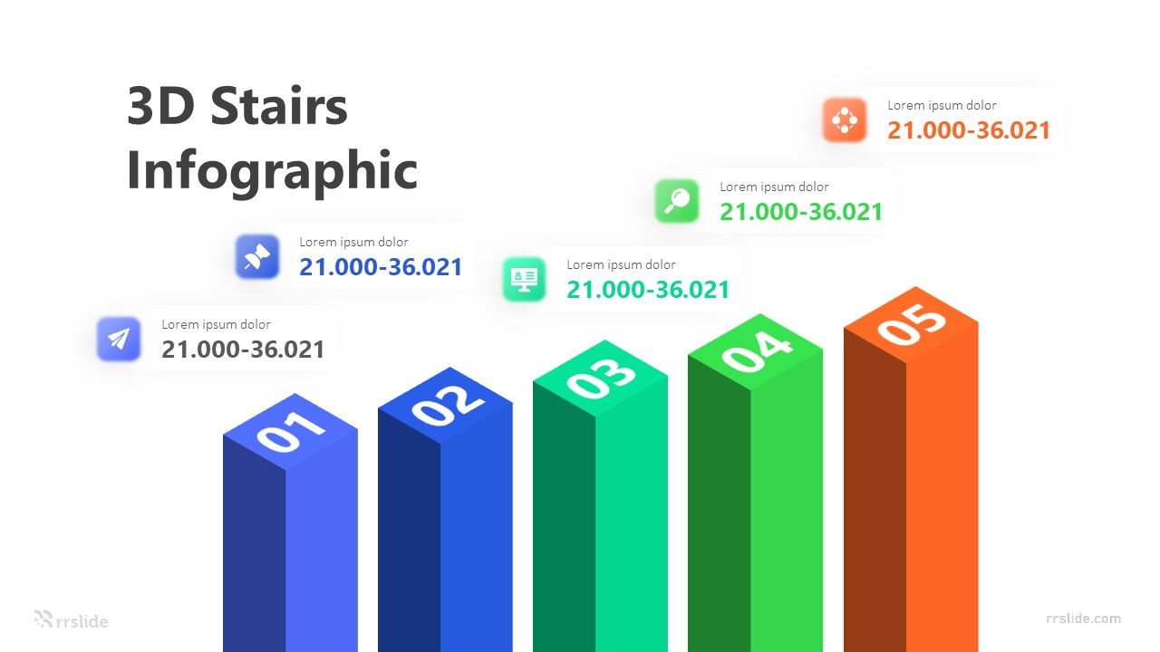 3D Stairs Infographic Template
