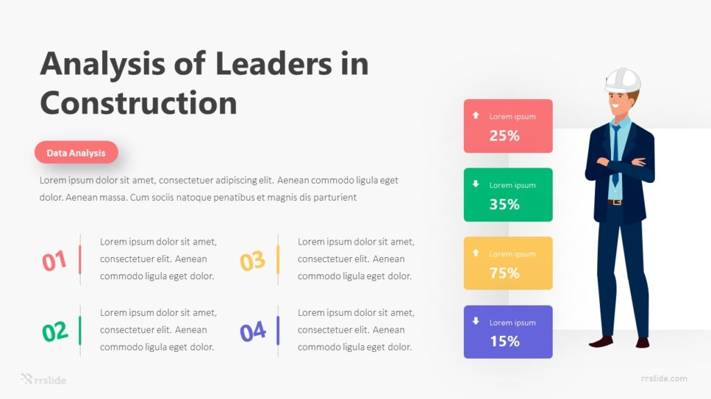 4 Analysis Of Leaders In Construction Infographic Template