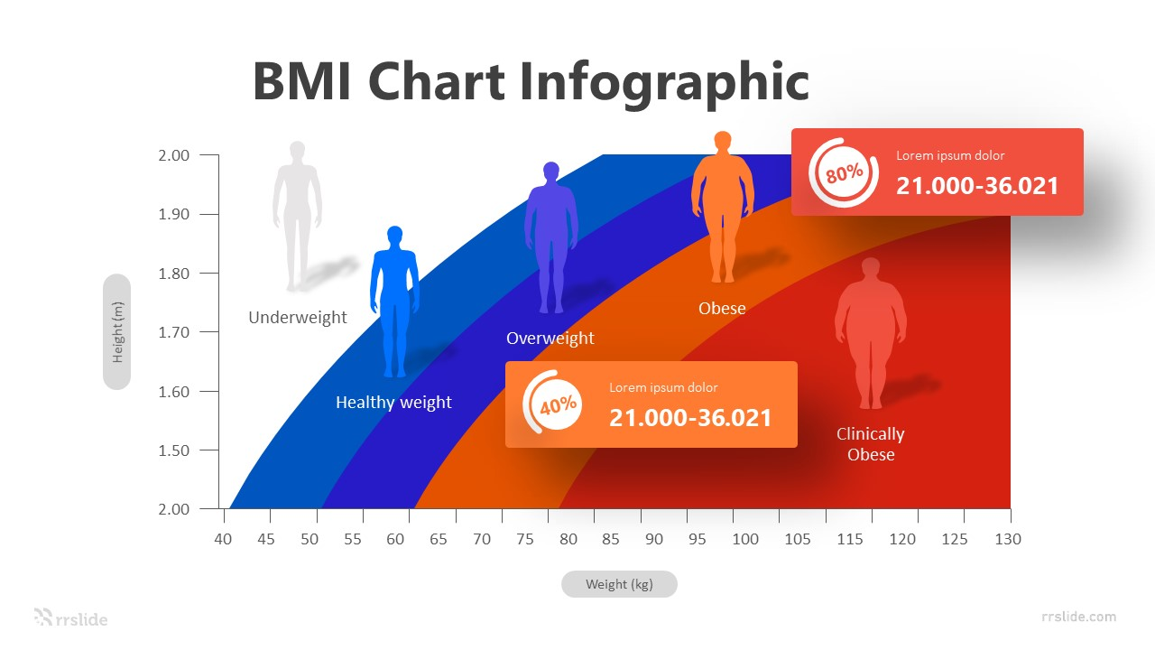 4 BMI Chart Infographic Template