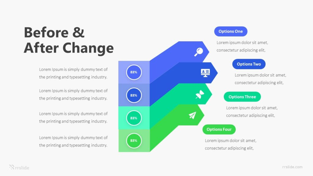 4 Before & After Change Infographic Template