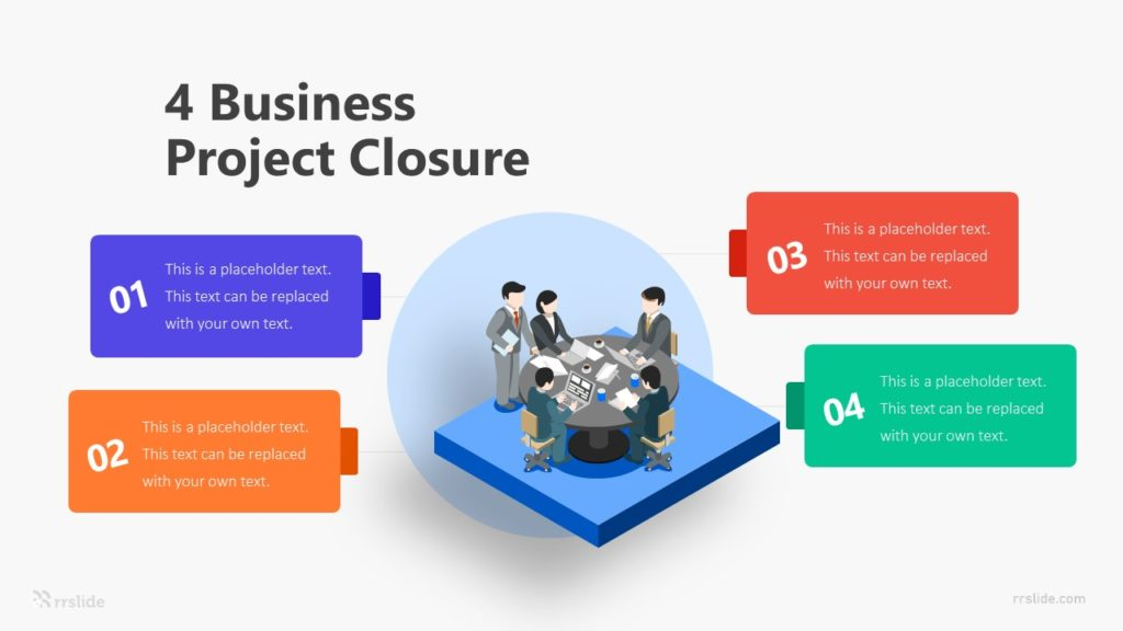 4 Business Project Closure Infographic Template