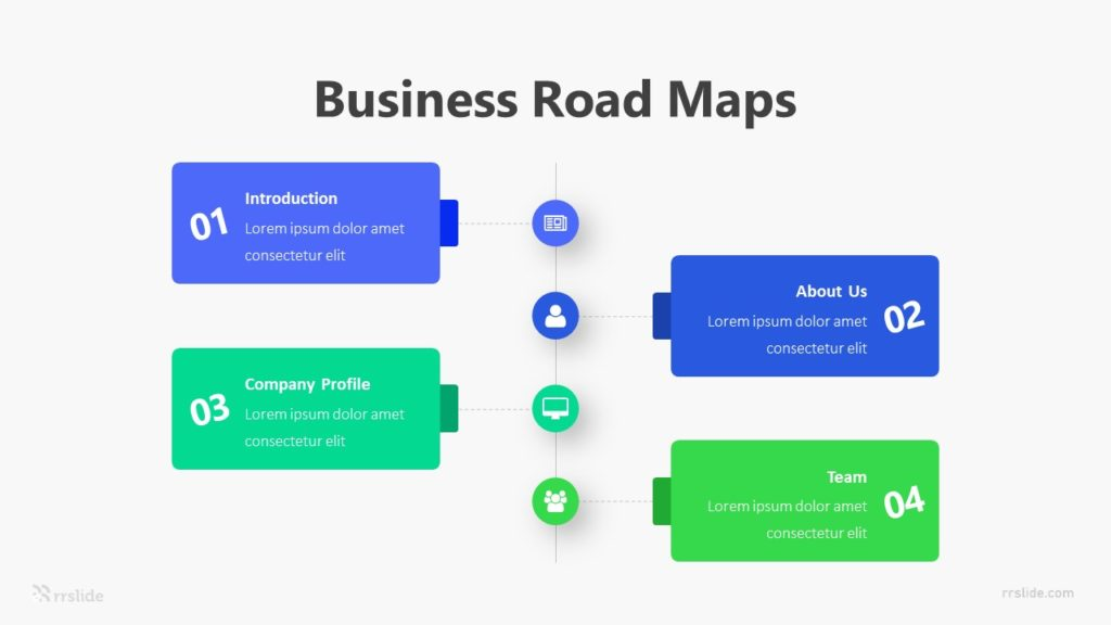 4 Business Road Maps Infographic Template