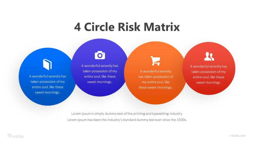 4 Circle Risk Matrix Infographic Template