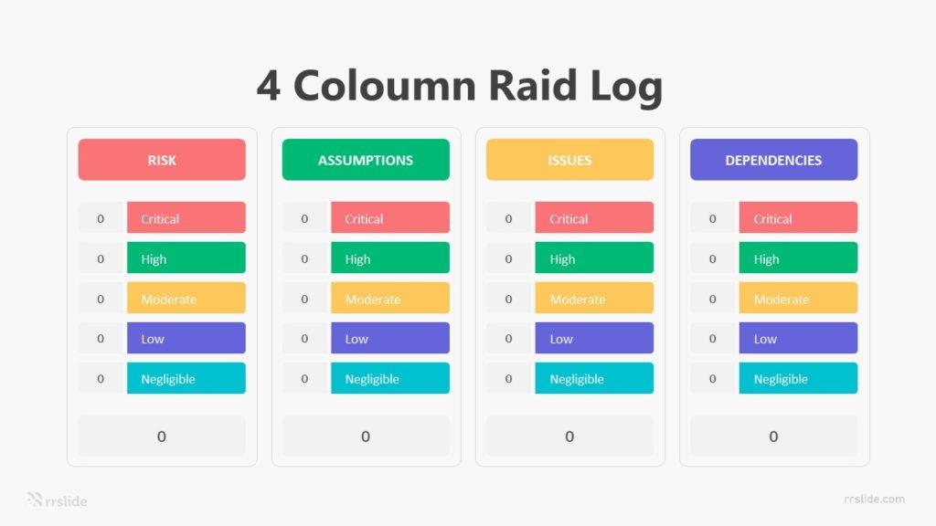 4 Coloumn Raid Log Infographic Template