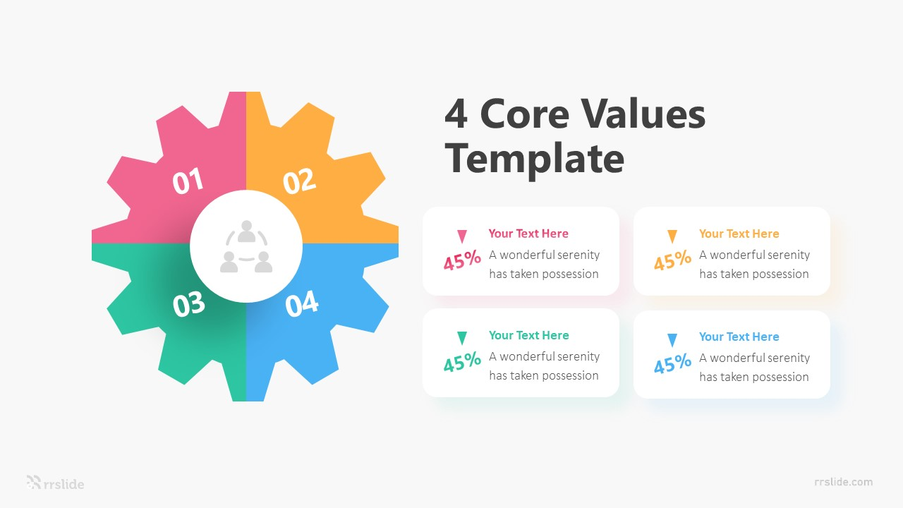 4 Core Values Template Infographic Template