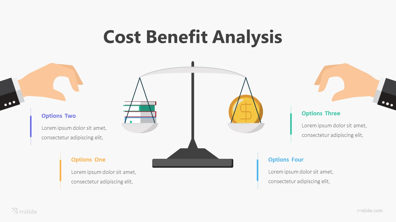 4 Cost Benefit Analysis Infographic Template