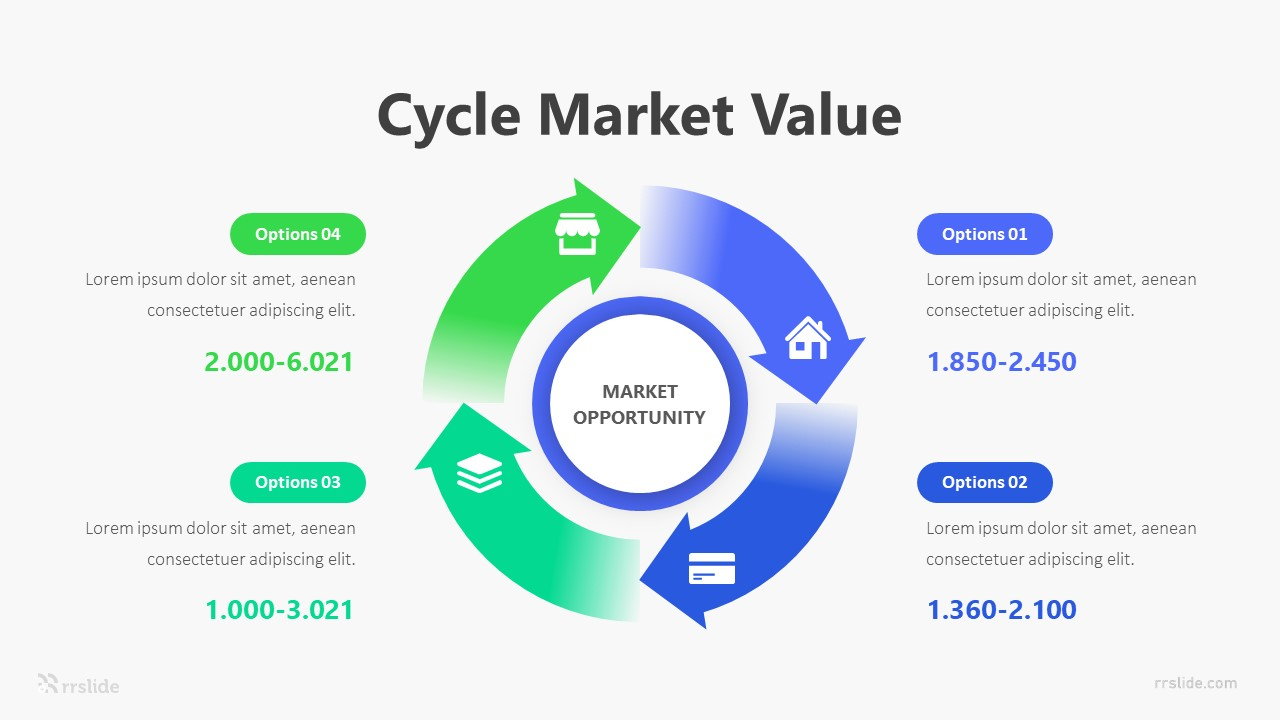 4 Cycle Market Value Infographic Template