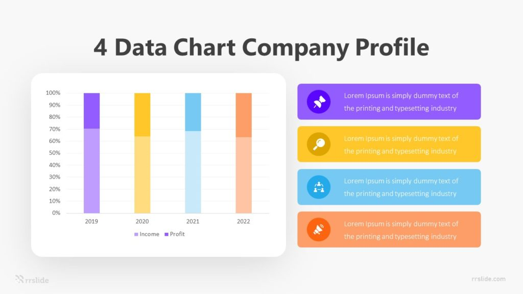 4 Data Chart Company Profile Infographic Template