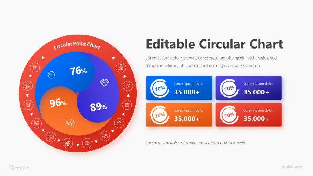 4 Editable Circular Chart Infographic Template