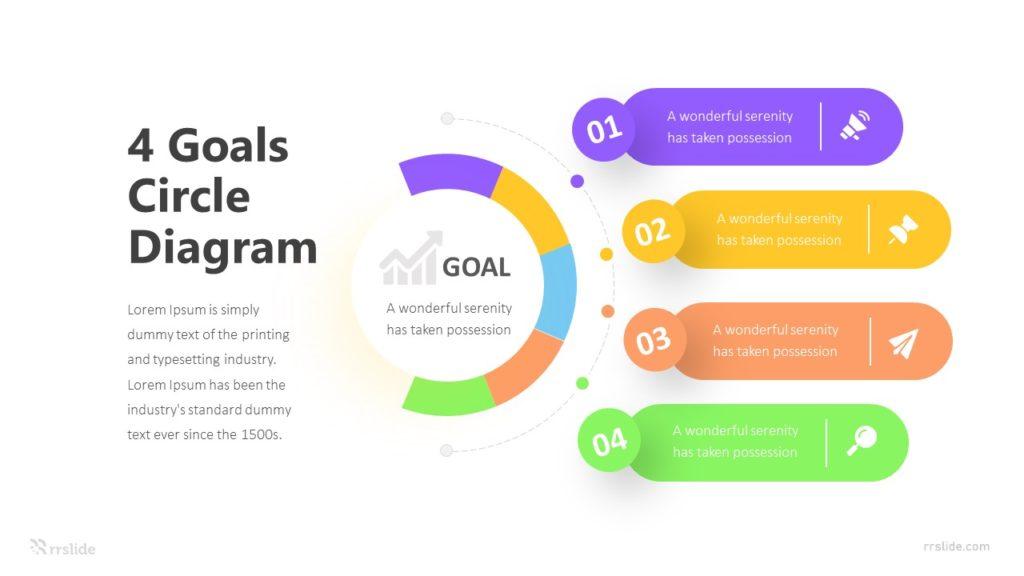4 Goals Circle Diagram Infographic Template