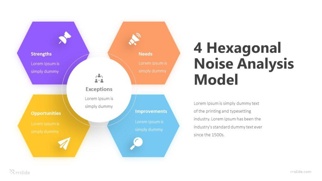 4 Hexagonal Noise Analysis Mode Infographic Template
