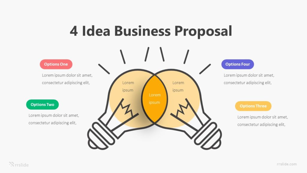 4 Idea Business Proposal Infographic Template