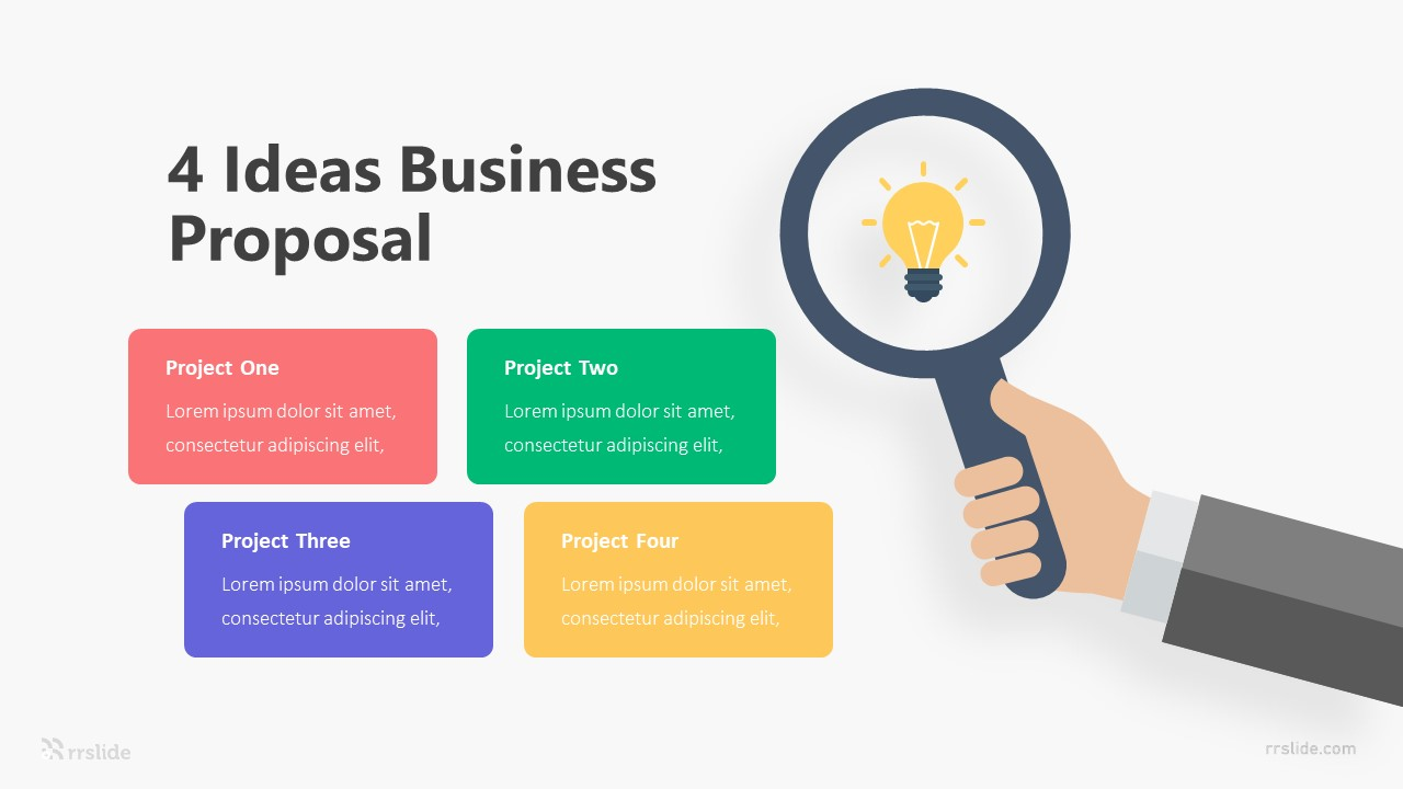 4 Ideas Business Proposal Infographic Template
