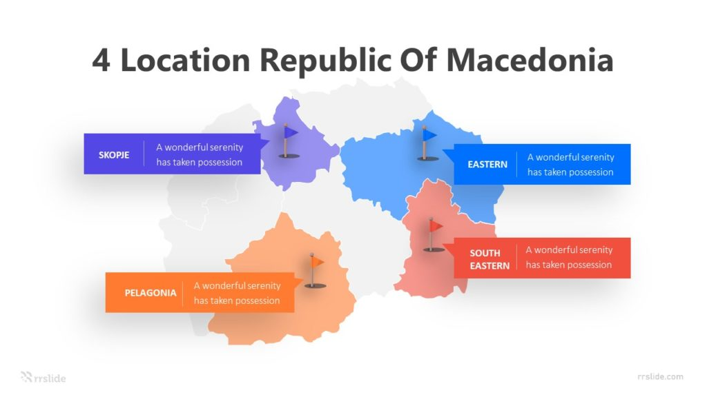 4 Location Republic Of Macedonia Infographic Template