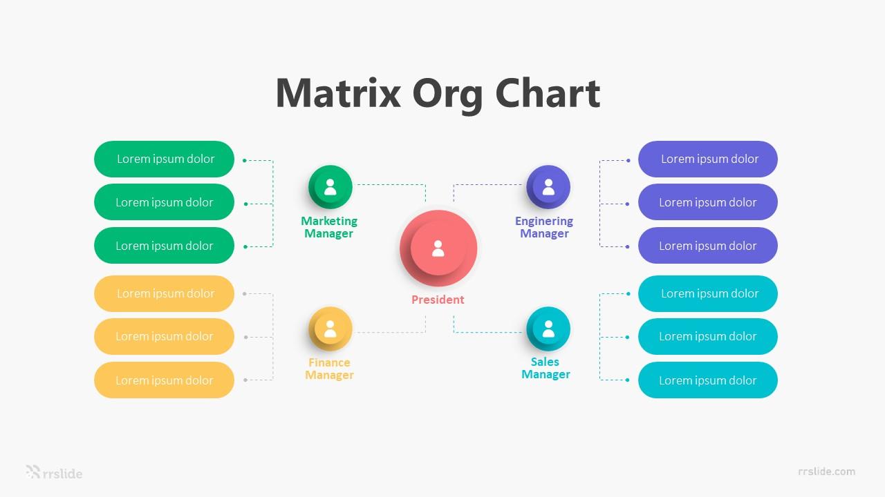 4 Matrix Org Chart Infographic Template