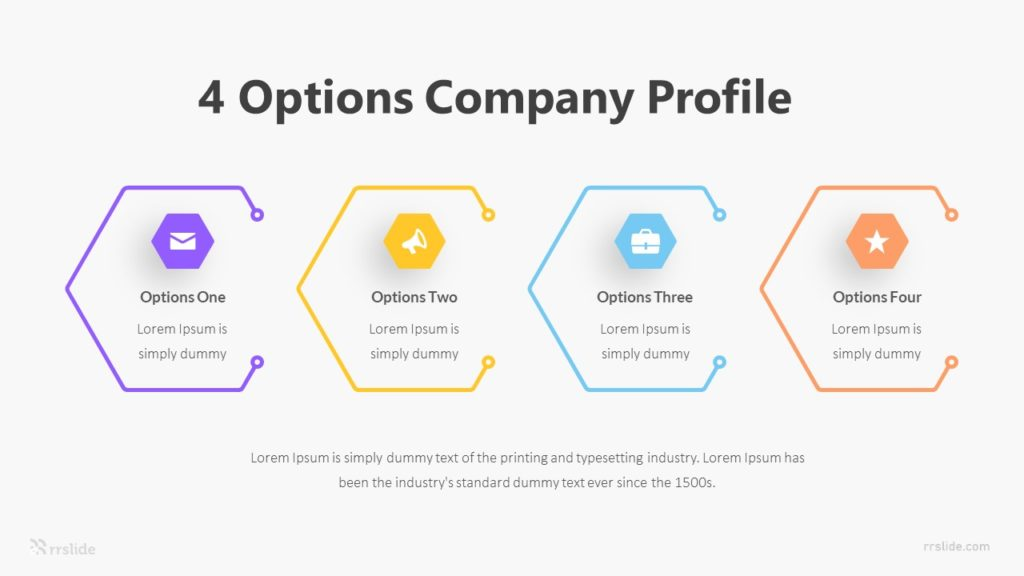 4 Options Company Profile Infographic Template