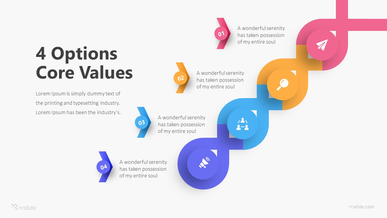 4 Options Core Values Infographic Template