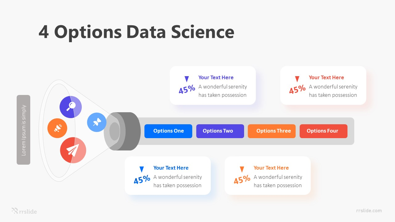 4 Options Data Science Infographic Template