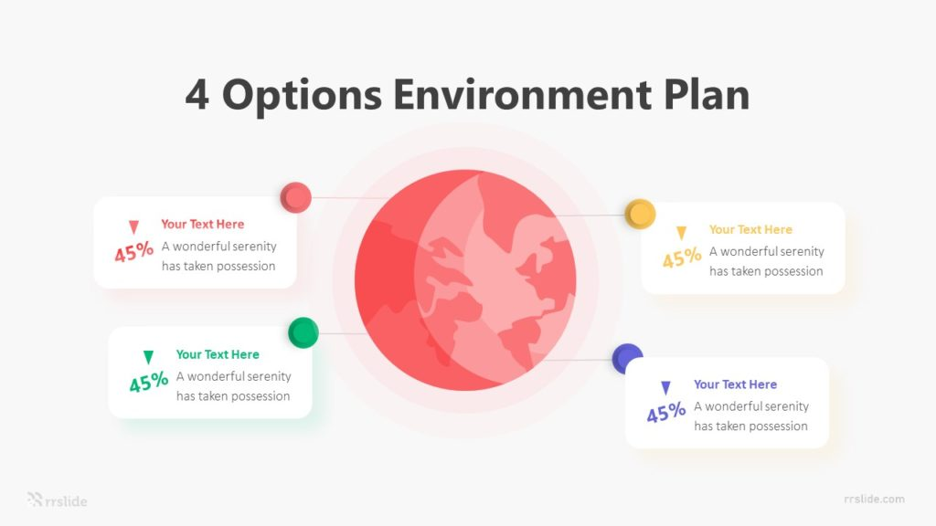 4 Options Environment Plan Infographic Template