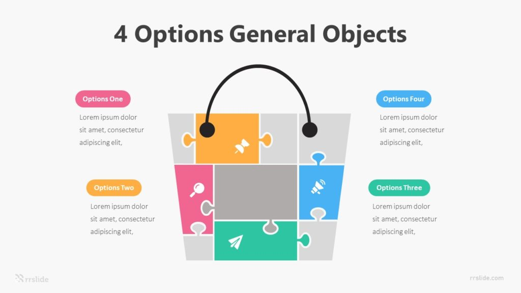 4 Options General Object Infographic Template
