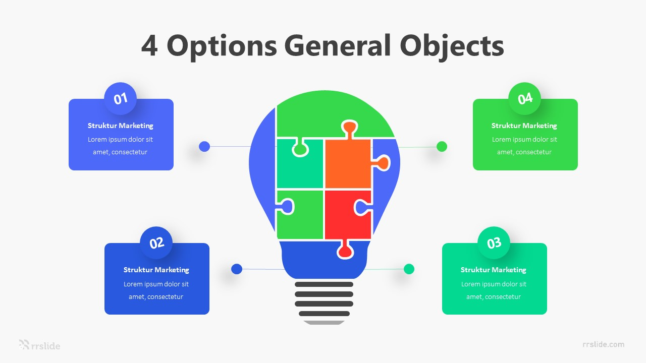 4 Options General Objects Infographic Template