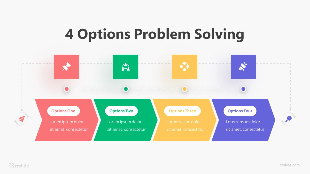 4 Options Problem Solving Infographic Template