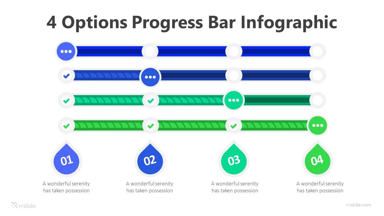 4 Options Progress Bar Infographic Template