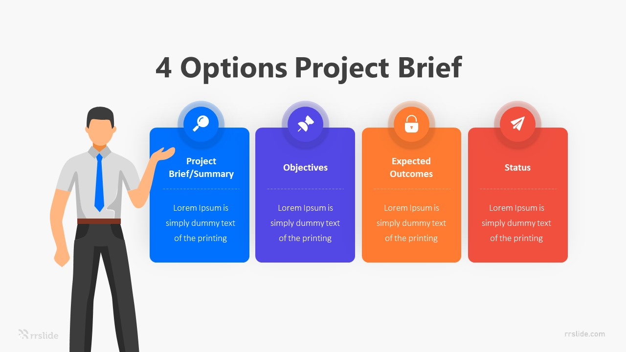 4 Options Project Brief Infographic Template