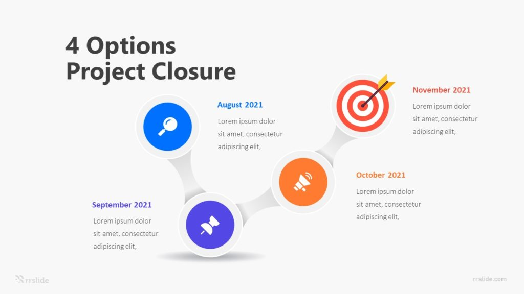 4 Options Project Closure Infographic Template