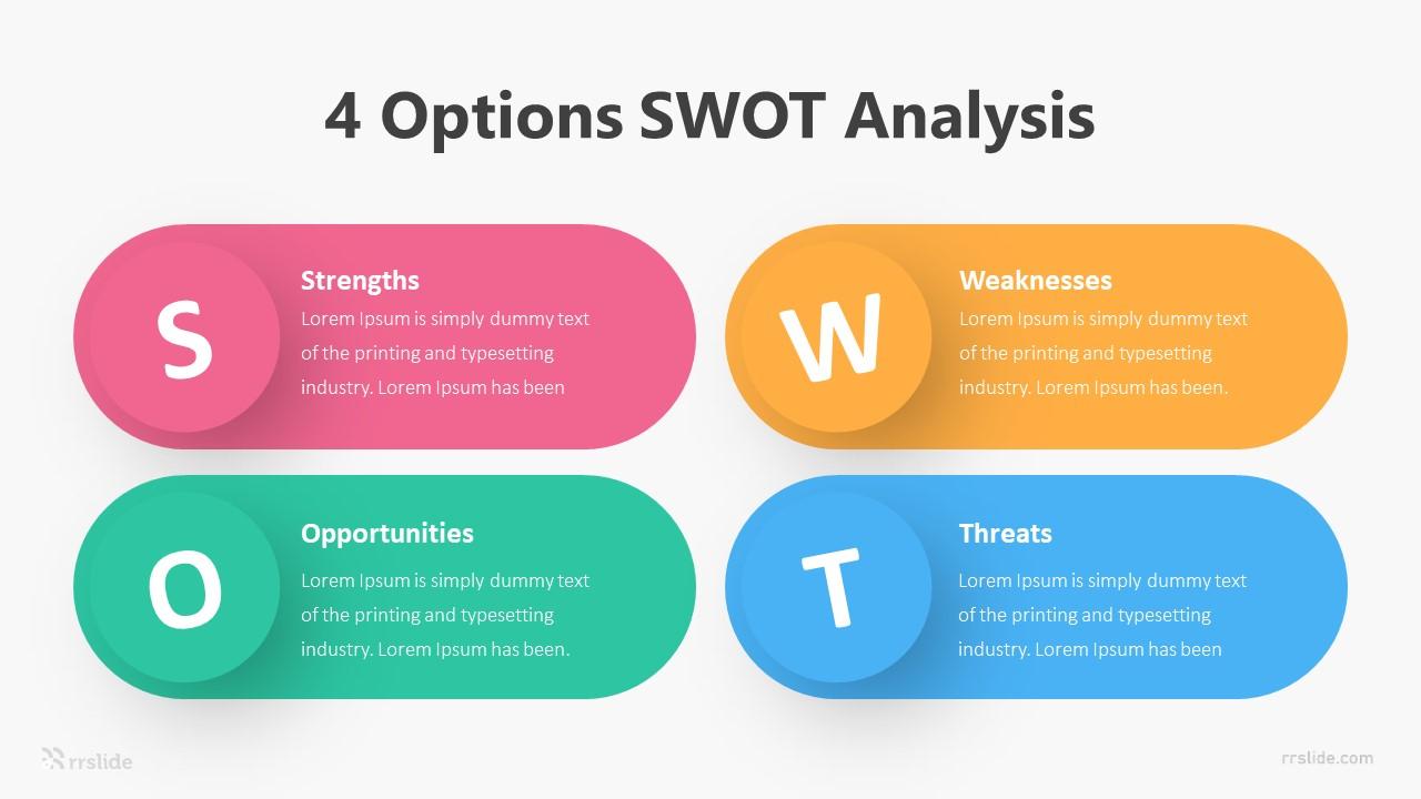 4 Options SWOT Analysis Infographic