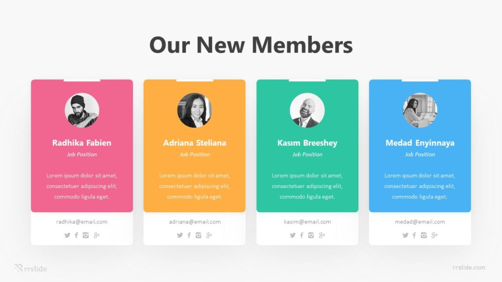 4 Our New Members Infographic Template