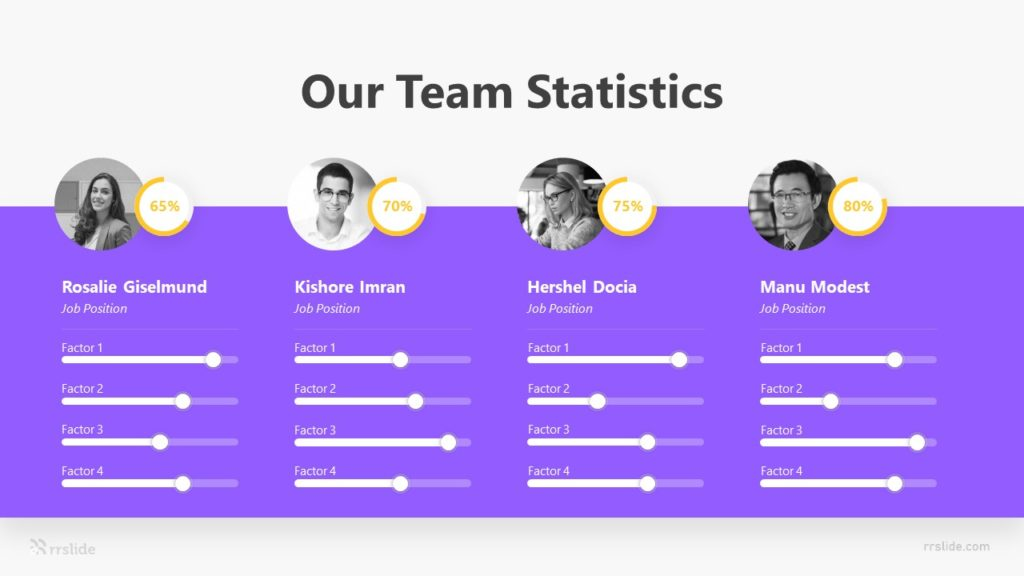 4 Our Team Statistics Infographic Template
