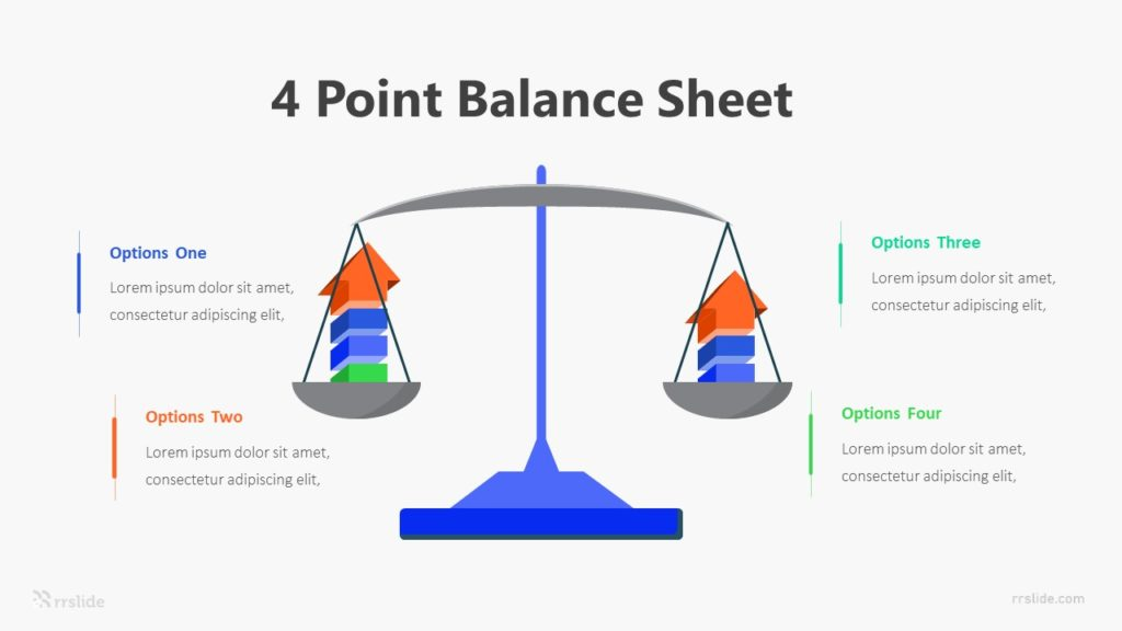 4 Point Balance Sheet Infographic Template