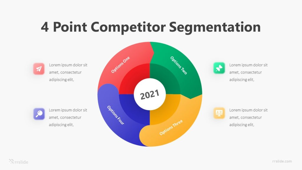 4 Point Competitor Segmentation Infographic Template
