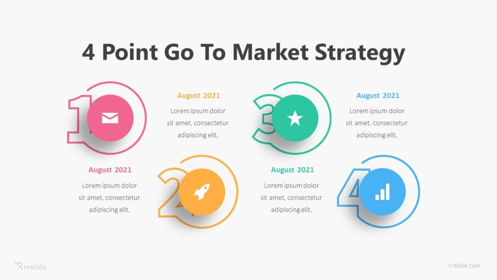 4 Point Go To Market Strategy Infographic Template