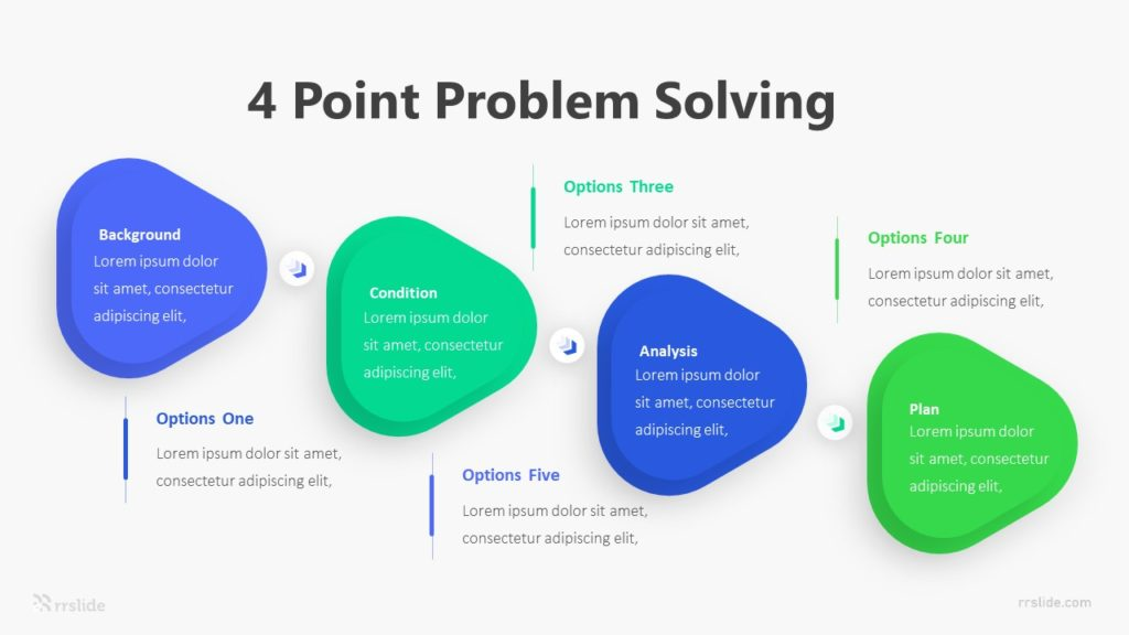 4 Point Problem Solving Infographic Template