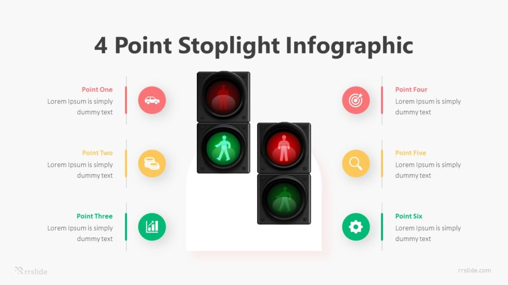 4 Point Stoplight Infographic Template