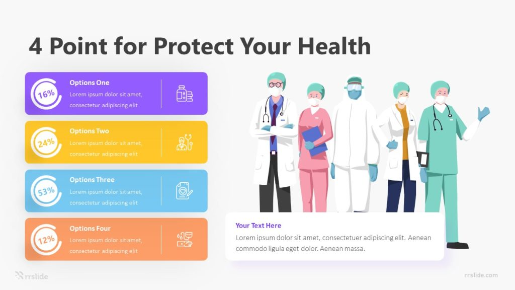 4 Point For Protect Your Health Infographic Template