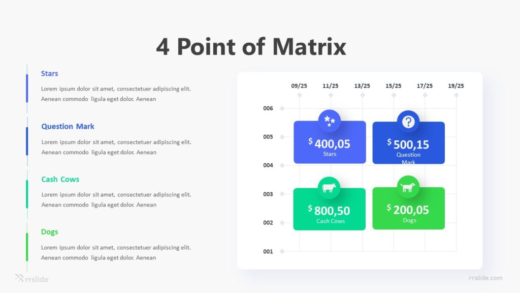4 Point of Matrix Infographic Template