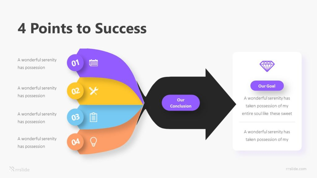 4 Point To Success Infograpic Template