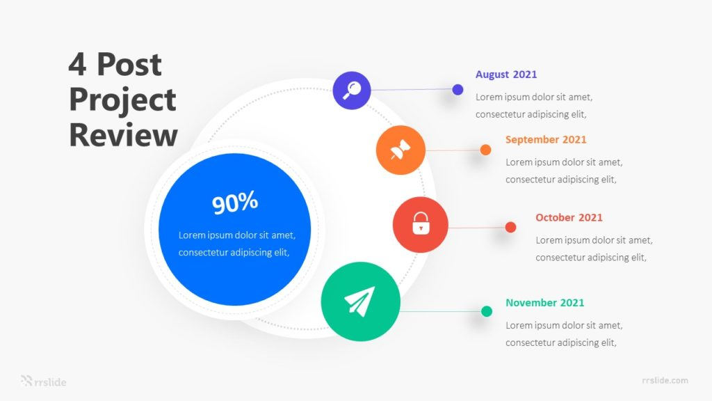 4 Post Project Review Infographic Template