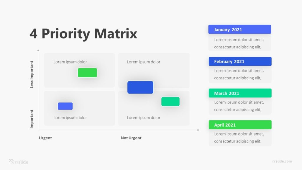 4 Priority Matrix Infographic Template
