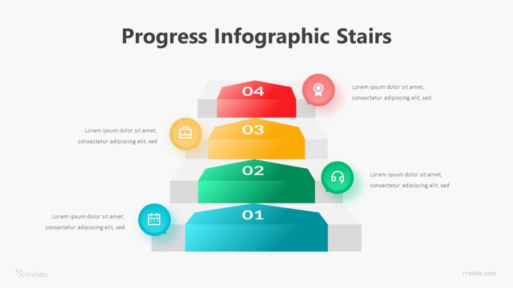 4 Progress Infographic Stairs Infographic Template